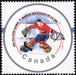 Jacques Plante Canada Postage Stamp | NHL All-Stars