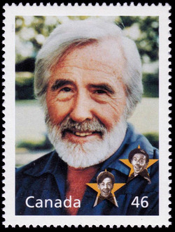 Gratien Gelinas: On Stage in Montreal Canada Postage Stamp | The Millennium Collection, Literary Legends