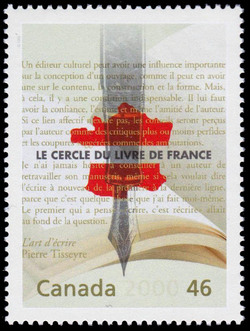 Pierre Tisseyre and the Cercle du livre de France Canada Postage Stamp | The Millennium Collection, Literary Legends