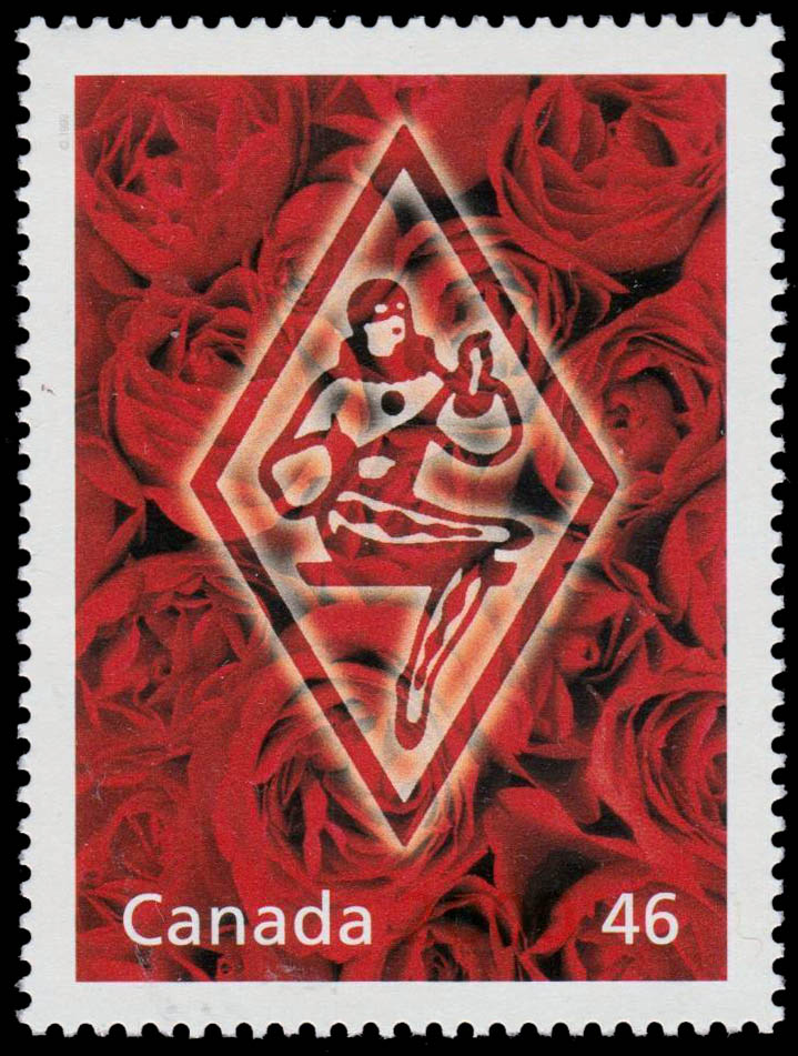 Harlequin: Winnipeg's Romantic Side Canada Postage Stamp | The Millennium Collection, Literary Legends