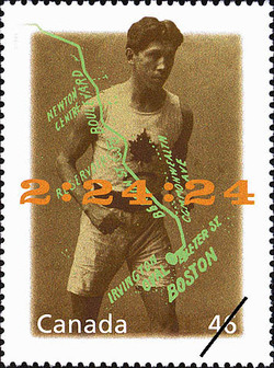 Tom Longboat: Marathon Man Canada Postage Stamp | The Millennium Collection, Canada's First Peoples