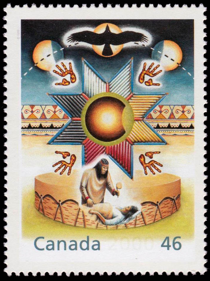 Healing From Within Canada Postage Stamp | The Millennium Collection, Canada's First Peoples