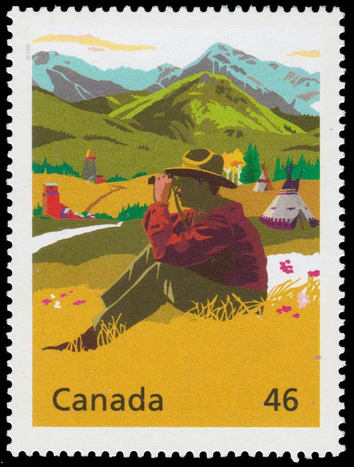 Eric Lafferty Harvie: Alberta's Heart of Gold Canada Postage Stamp | The Millennium Collection, A Tradition of Generosity
