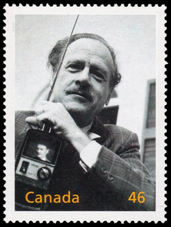 Marshall McLuhan: The Man with a Message Canada Postage Stamp | The Millennium Collection, Great Thinkers