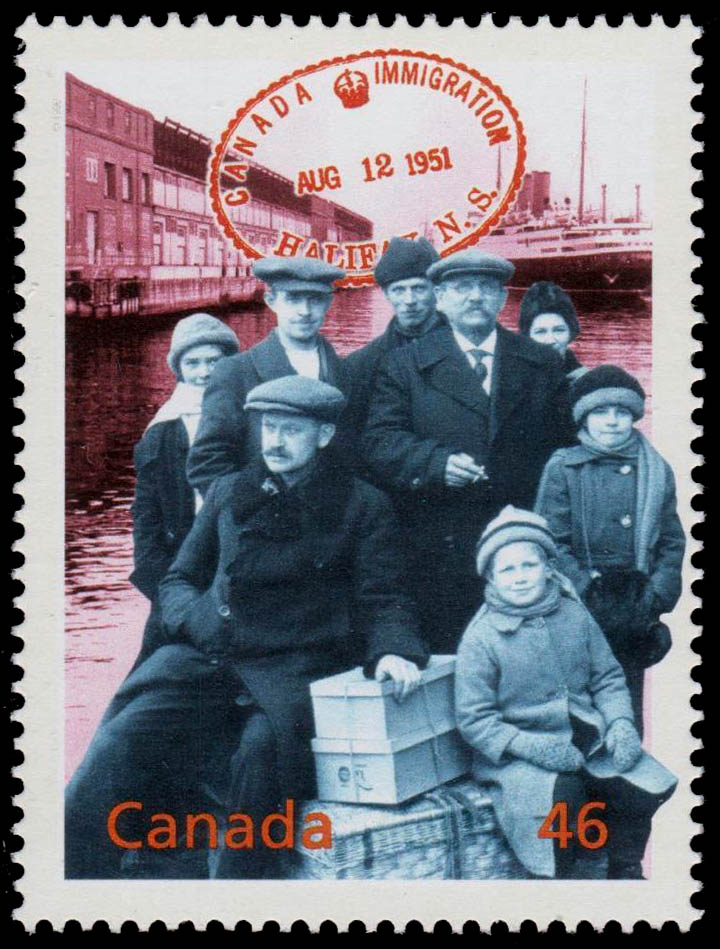 Pier 21: Welcome to Canada Canada Postage Stamp | The Millennium Collection, Canada's Cultural Fabric