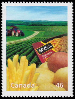 McCain Foods: Lords of the Freezer Canada Postage Stamp | The Millennium Collection, Food, Glorious Food!