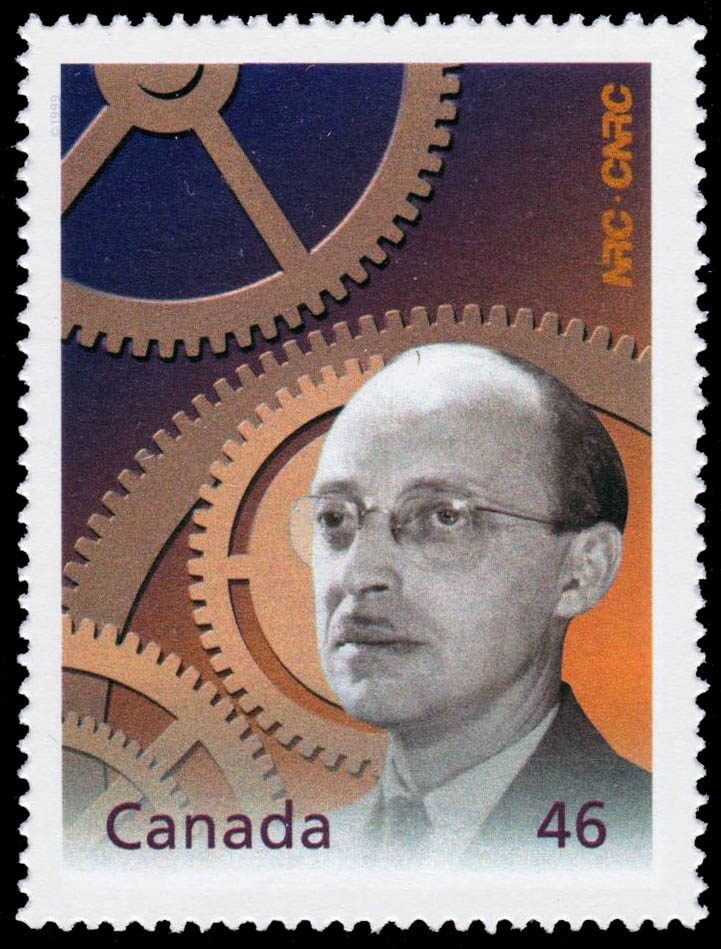 George Klein: Canada's Inventor of the 20th Century Canada Postage Stamp   The Millennium Collection, Fathers of Invention