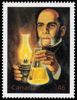 Abraham Gesner: Father of the Oil Industry Canada Postage Stamp | The Millennium Collection, Fathers of Invention