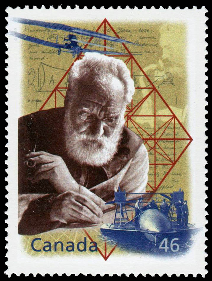 Alexander Graham Bell: An Inquiring Mind Canada Postage Stamp   The Millennium Collection, Fathers of Invention