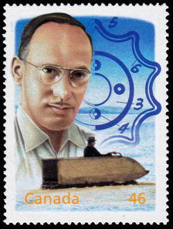 Joseph-Armand Bombardier: Getting Around in the Winter Canada Postage Stamp | The Millennium Collection, Fathers of Invention