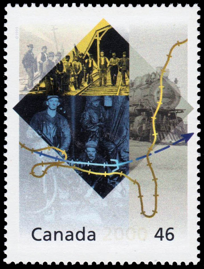Rogers Pass: Building Bridges and Tunnels Canada Postage Stamp | The Millennium Collection, Engineering and Technological Marvels
