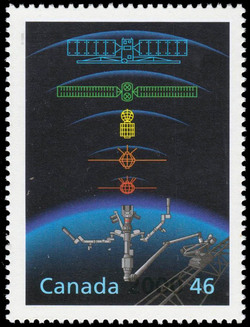 Canadian Space Program Canada Postage Stamp | The Millennium Collection, Engineering and Technological Marvels
