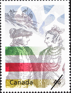 Hudson's Bay Company Canada Postage Stamp   The Millennium Collection, Enterprising Giants