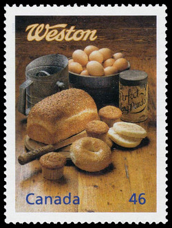 Weston: The Bread Man Cometh Canada Postage Stamp | The Millennium Collection, Enterprising Giants