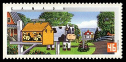Spring in Ontario Canada Postage Stamp | Rural Mailboxes