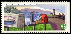 Fall in Eastern Canada Canada Postage Stamp | Rural Mailboxes
