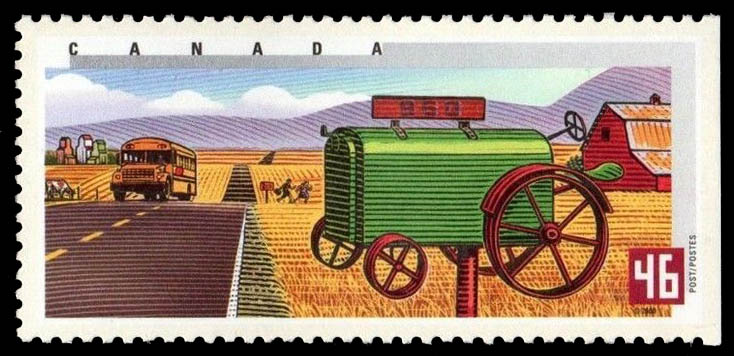 Summer in Western Canada Canada Postage Stamp   Rural Mailboxes