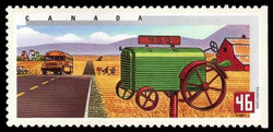 Summer in Western Canada Canada Postage Stamp | Rural Mailboxes