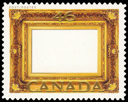 Gold Leaf Frame Canada Postage Stamp | Greeting Stamps