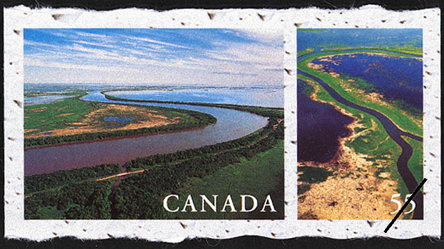 Red River and Lake Winnipeg, Manitoba Canada Postage Stamp | Fresh Waters of Canada