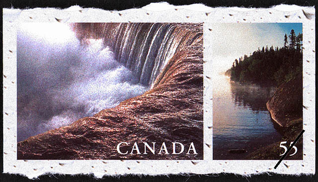 Niagara Falls, Ontario, Hattie Cove, Pukaskwa National Park, Ontario Canada Postage Stamp | Fresh Waters of Canada
