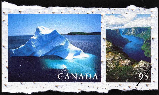 Iceberg, Newfoundland, Western Brook Pond, Gros Morne National Park, Newfoundland Canada Postage Stamp   Fresh Waters of Canada