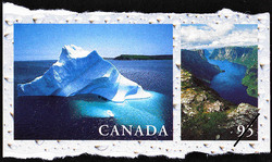 Iceberg, Newfoundland, Western Brook Pond, Gros Morne National Park, Newfoundland Canada Postage Stamp | Fresh Waters of Canada
