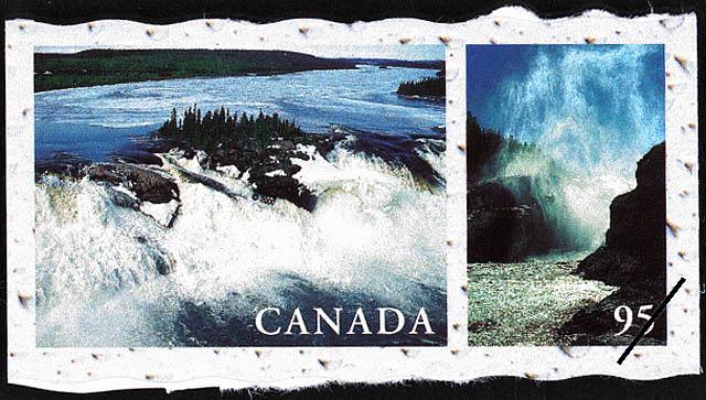 Grande Riviere de la Baleine, Hudson Bay, Quebec, Broadback River, James Bay, Quebec Canada Postage Stamp | Fresh Waters of Canada