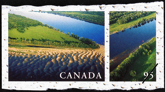 Saint John River, New Brunswick Canada Postage Stamp