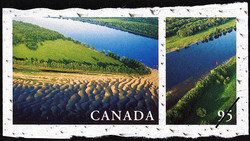 Saint John River, New Brunswick Canada Postage Stamp | Fresh Waters of Canada