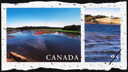 DeSable River, Prince Edward Island, St. Peters River, Prince Edward Island Canada Postage Stamp | Fresh Waters of Canada
