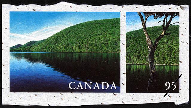 Lake O'Law, Cape Breton Island, Nova Scotia Canada Postage Stamp   Fresh Waters of Canada
