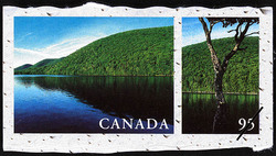Lake O'Law, Cape Breton Island, Nova Scotia Canada Postage Stamp | Fresh Waters of Canada