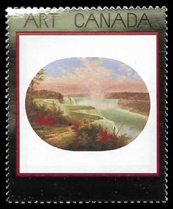 The Artist at Niagara, 1858, Cornelius Krieghoff Canada Postage Stamp | Masterpieces of Canadian Art