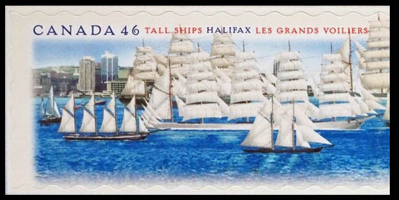 Bluenose, Four-Masted Schooner, Five-Masted Barque Canada Postage Stamp | Tall Ships, Halifax