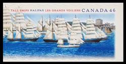 Brig, Barquentine, Four-Masted Barque Canada Postage Stamp | Tall Ships, Halifax