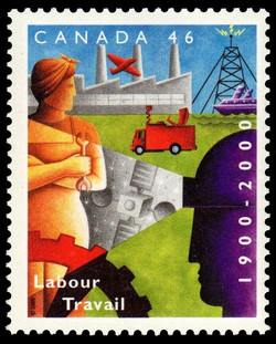 Labour, 1900-2000 Canada Postage Stamp