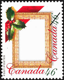 Christmas Frame Canada Postage Stamp | Greeting Stamps
