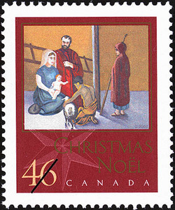 Adoration of the Shepherds Canada Postage Stamp | Christmas, Nativity
