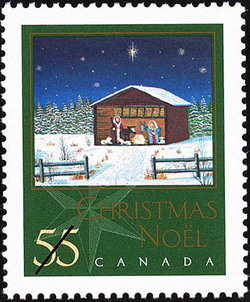 Christmas Creche Canada Postage Stamp | Christmas, Nativity