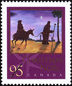 Flight into Egypt Canada Postage Stamp | Christmas, Nativity