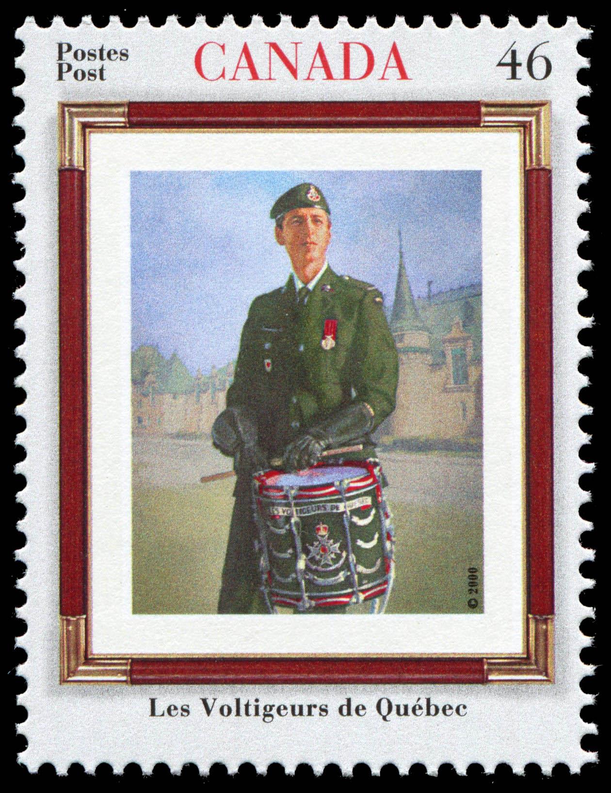 Les Voltigeurs de Quebec Canada Postage Stamp