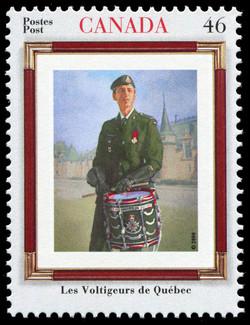 Les Voltigeurs de Quebec Canada Postage Stamp | Regiments