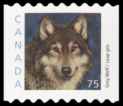 Grey Wolf Canada Postage Stamp | Canadian Animals
