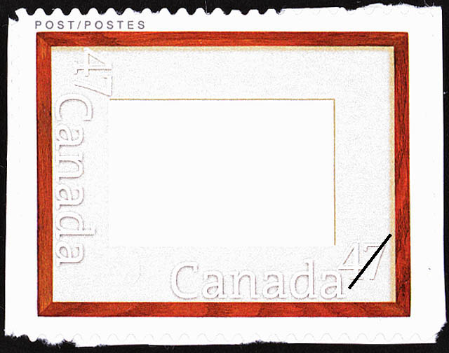Mahogany Frame Canada Postage Stamp | Greeting Stamps
