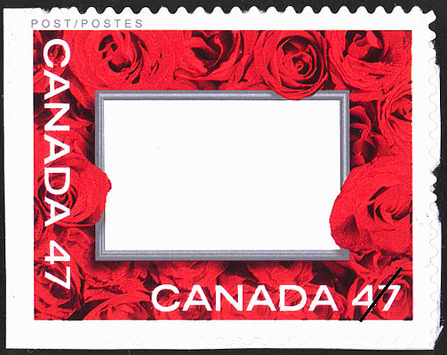 """Love"" Frame Canada Postage Stamp"