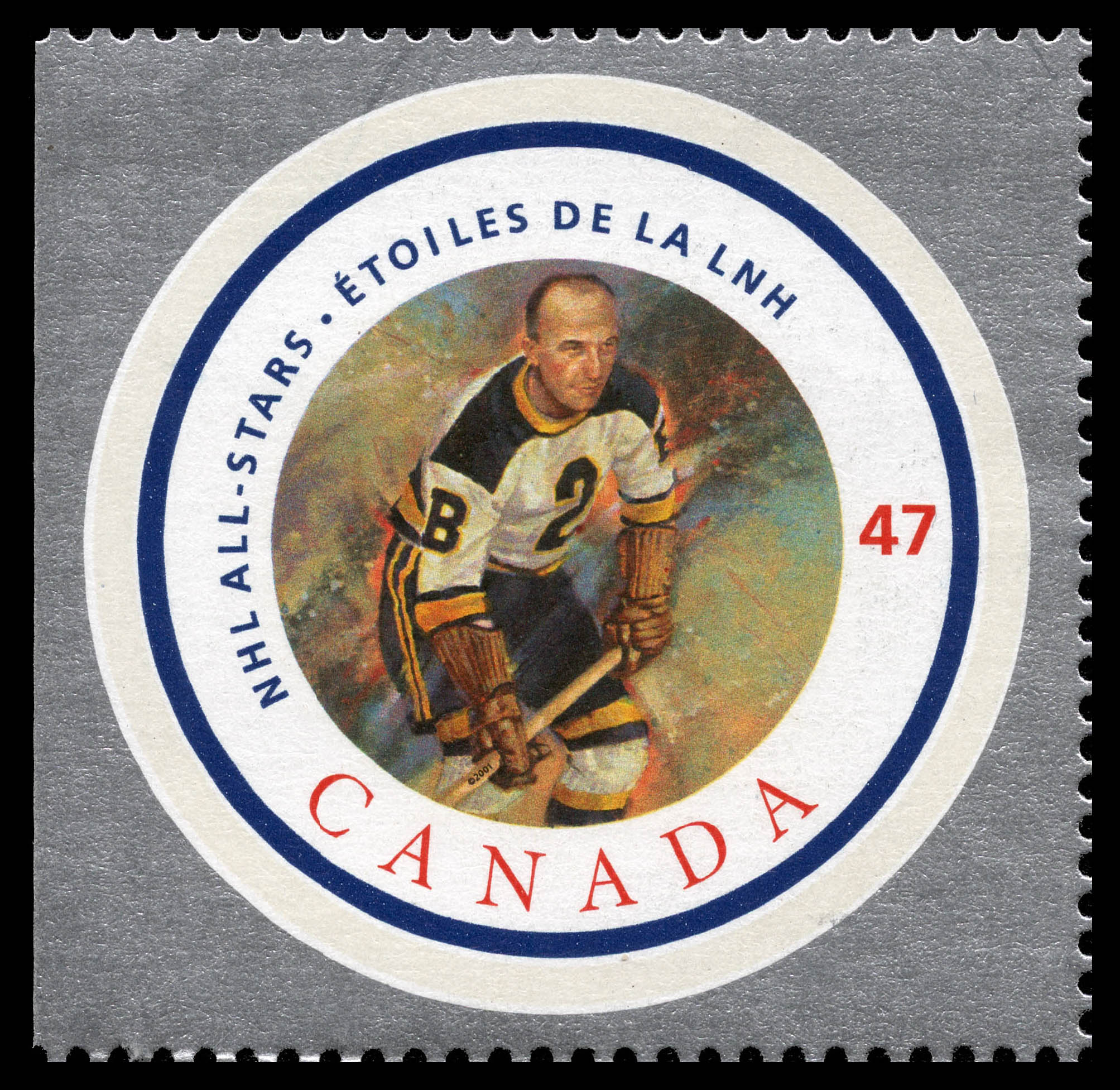 Eddie Shore Canada Postage Stamp | NHL All-Stars