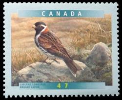 Lapland Longspur Canada Postage Stamp | Birds of Canada