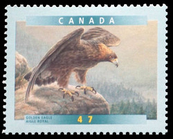 Golden Eagle Canada Postage Stamp | Birds of Canada