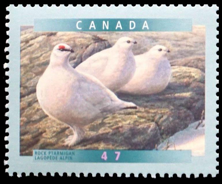 Rock Ptarmigan Canada Postage Stamp   Birds of Canada